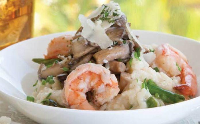 Risotto aux crevettes et champignons au thermomix