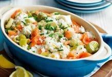 Risotto aux poireaux et saumon au cookeo