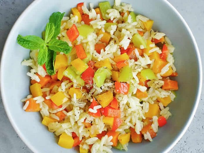 Riz basmati aux légumes au thermomix