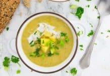 Soupe de pommes de terre vegan