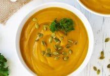 Soupe potiron épinards au cookeo