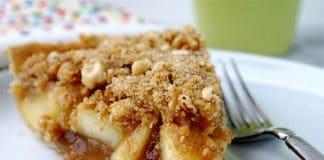 Tarte aux pommes caramélisées et crumble