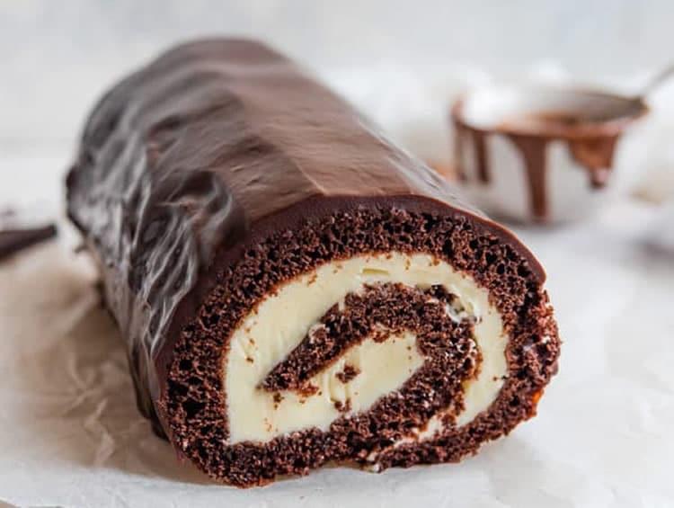 Bûche chocolat crème au thermomix 1