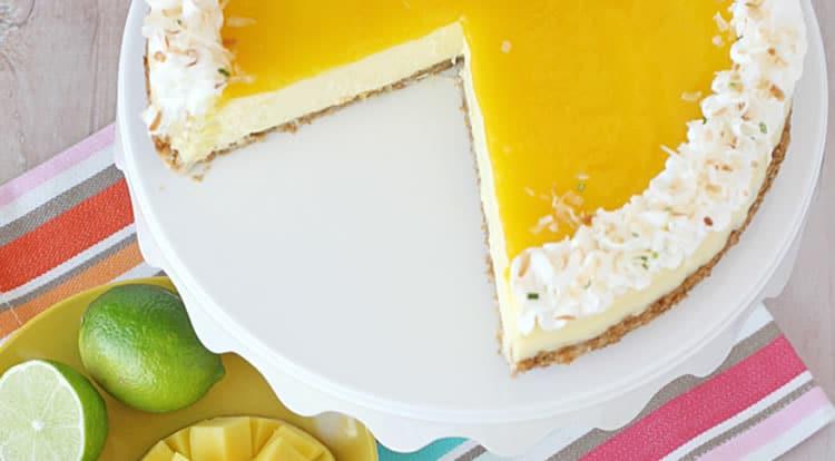 Cheesecake à la mangue et citron 1