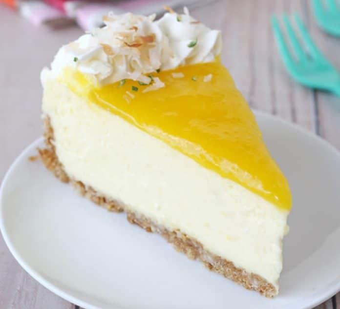 Cheesecake à la mangue et citron
