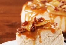 Cheesecake aux pommes et caramel au thermomix