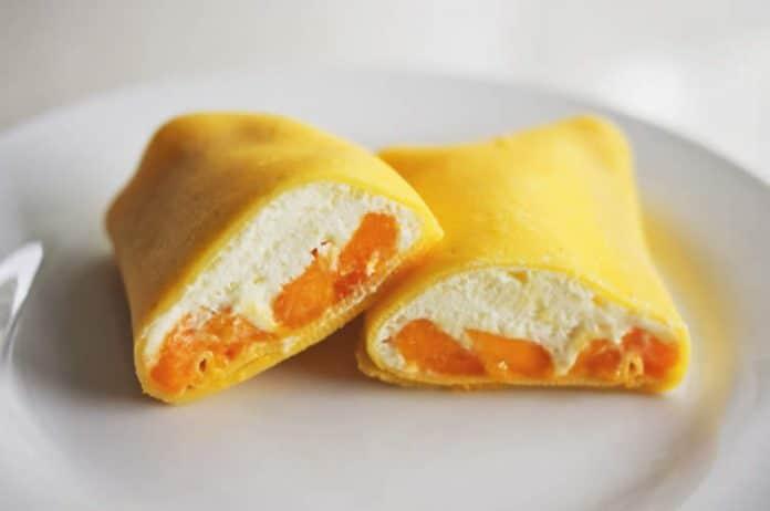 Crêpes à la mangue et crème au thermomix