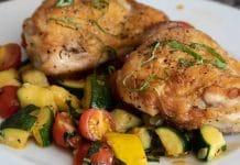 Cuisses de poulet aux légumes au cookeo