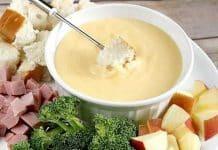 Fondue aux 3 fromages suisses