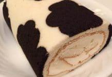 Génoise motif peau de vache au thermomix