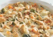 Gratin de chou-fleur et carotte au fromage