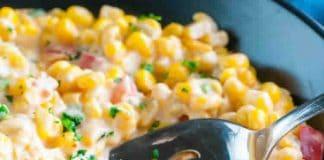 Maïs au fromage à la crème et poivron