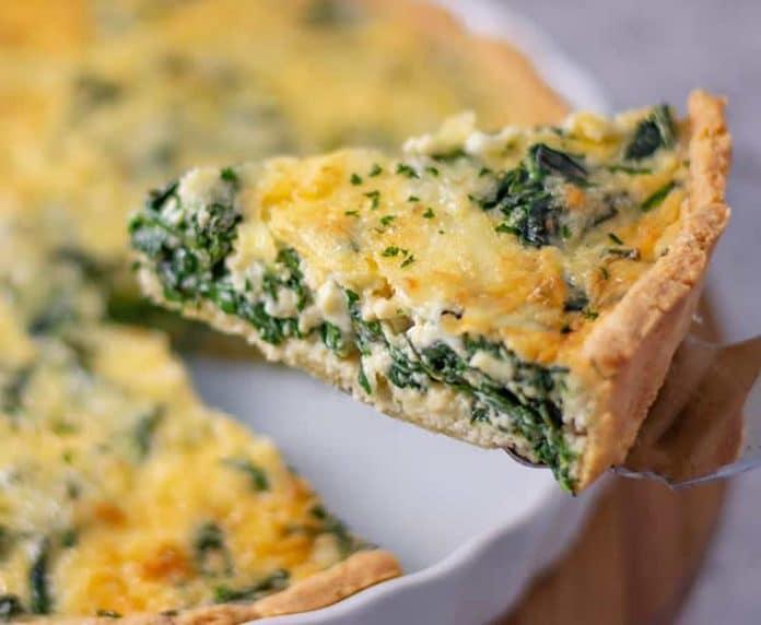 Quiche aux épinards et fromage