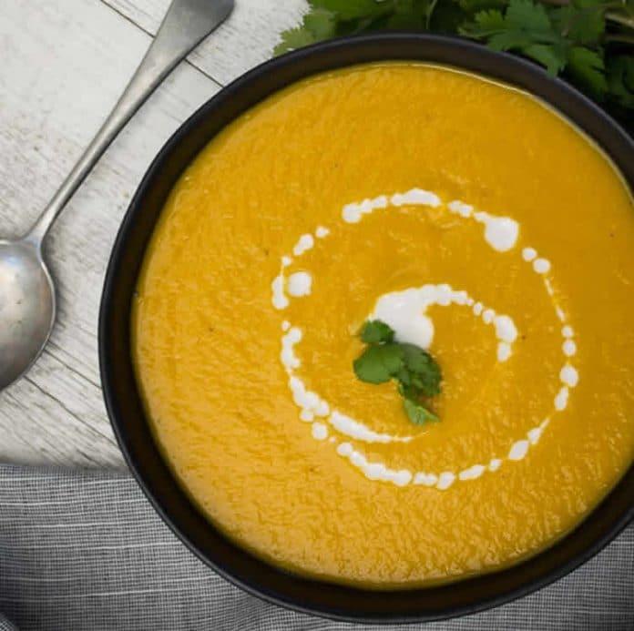 Soupe de courge et légumes au cookeo