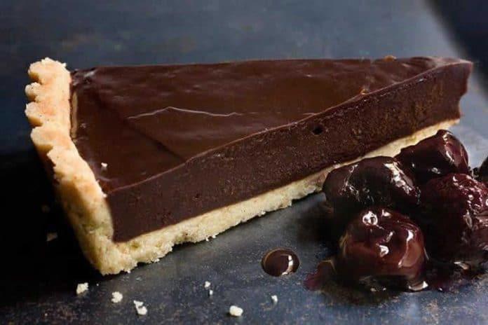 Tarte à la ganache au chocolat noir