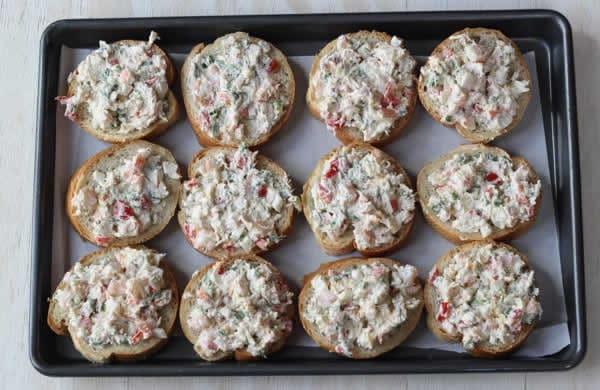 Tartelettes apéritives crabe et crevettes 1