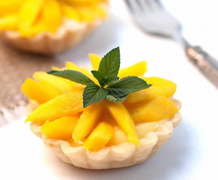 Mini tartelette a la mangue et crème
