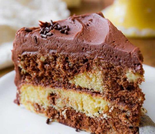 Cake marbré au chocolat