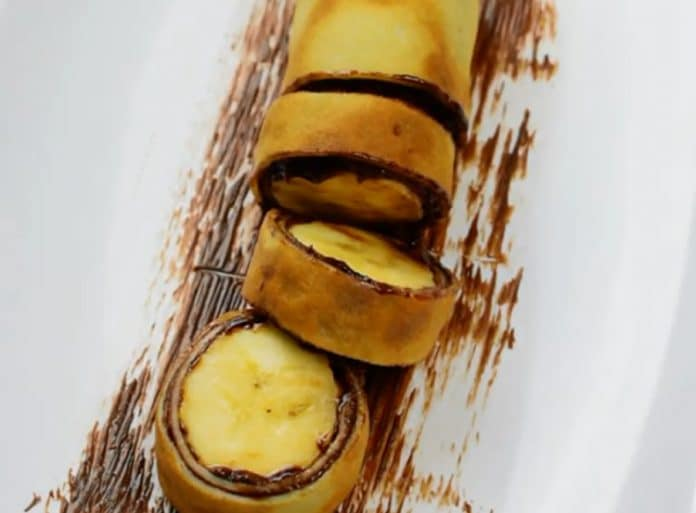 Crêpe roulée au chocolat au thermomix