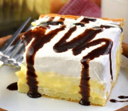 Gâteau à la crème vanille et chocolat