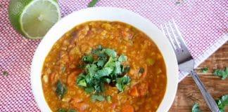 Lentilles corail aux carottes au cookeo
