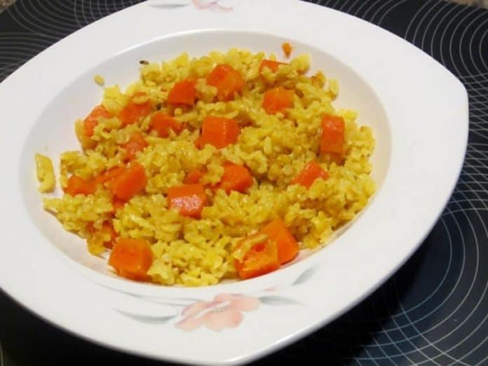 Riz aux carottes au cookeo