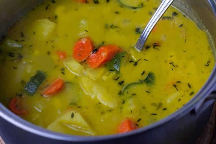 Soupe de carottes et poireaux au thermomix