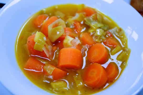 Soupe de carottes et poireaux au thermomix 1