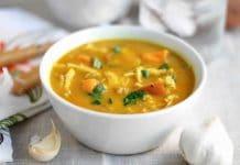 Soupe de poulet aux légumes au cookeo