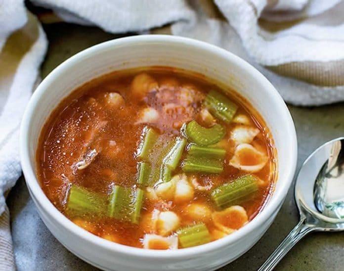 Soupe de poulet et céleri au cookeo
