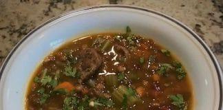 Soupe lentilles et saucisses au cookeo