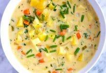 Soupe pommes de terre et carottes