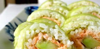 Sushis au saumon et concombre au thermomix