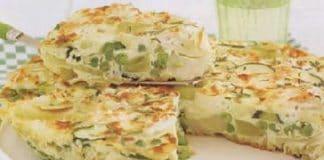 Tortilla courgettes et poireaux au thermomix