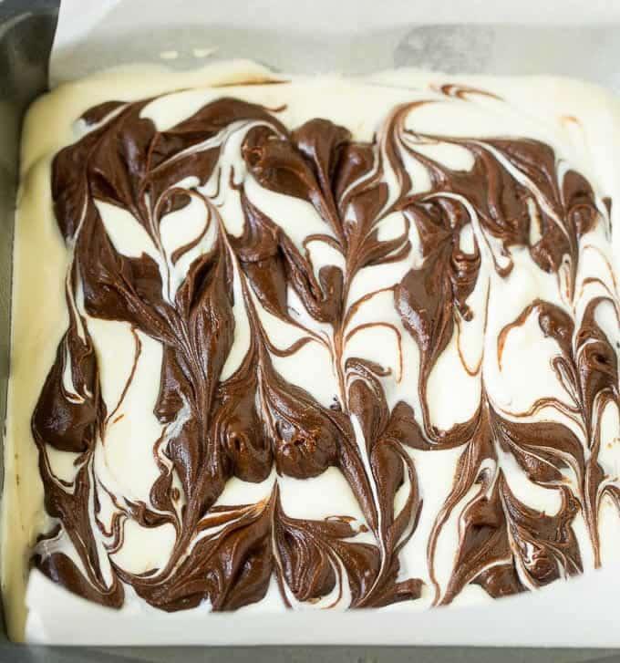 Cheesecake marbré au chocolat au thermomix 2