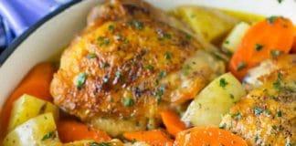 Cuisses de poulet aux carottes au cookeo