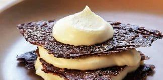 Dessert mousse au chocolat blanc