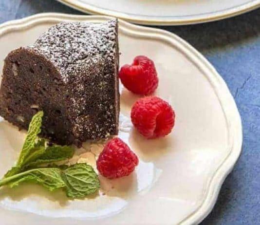 Gâteau au chocolat et noix