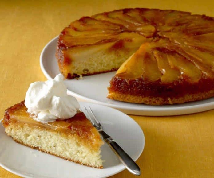 Gâteau renversé aux poires caramélisé