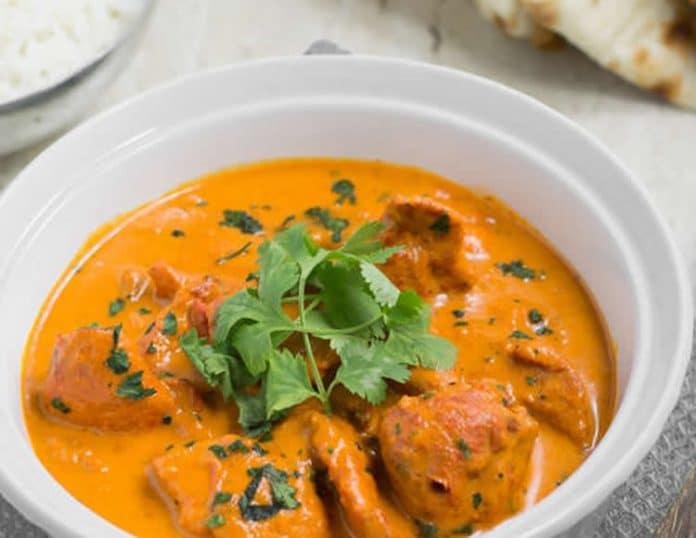 Poulet au curry et mangue au thermomix