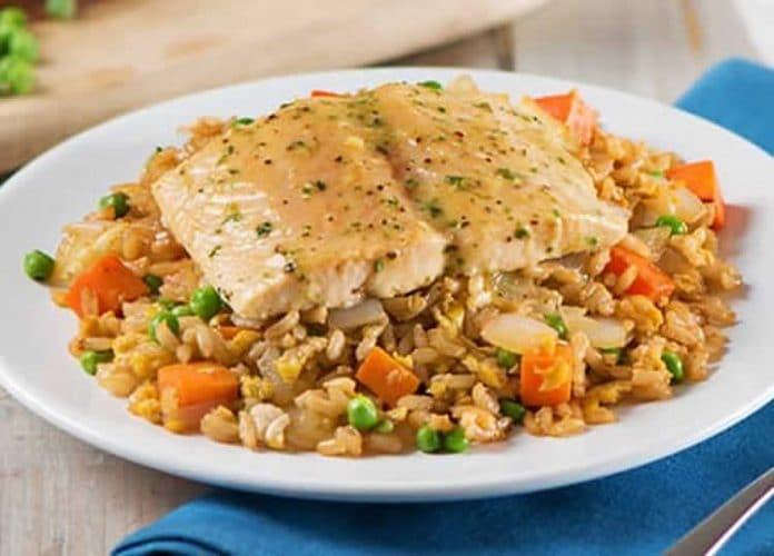 Saumon au riz et légumes au thermomix