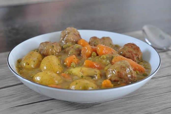 Boulettes de viande hachée aux légumes au thermomix