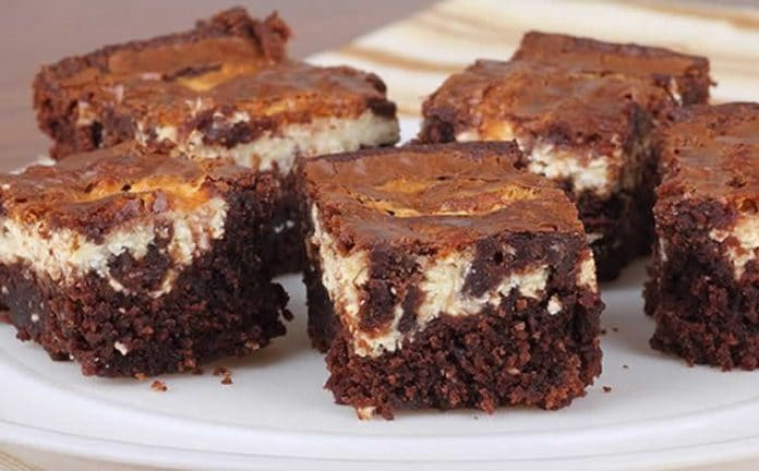 Brownie chocolat et fromage à la crème