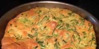 Clafoutis aux poireaux et asperges