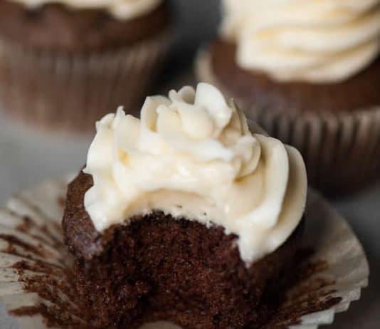 Cupcakes au chocolat et café