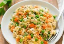 Riz au poulet et carottes