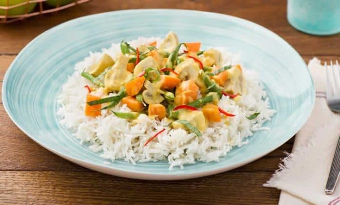 Riz aux légumes et curry au thermomix