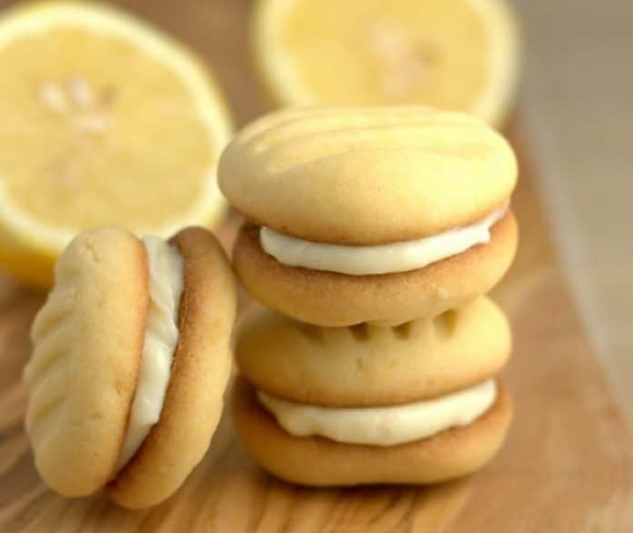 Biscuits fourrés crème au citron