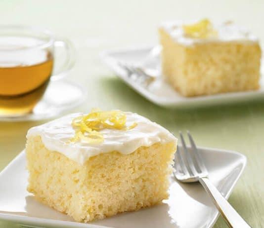 Cake au citron avec glaçage