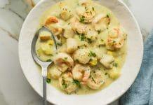 Crevettes et cabillaud au maïs au cookeo